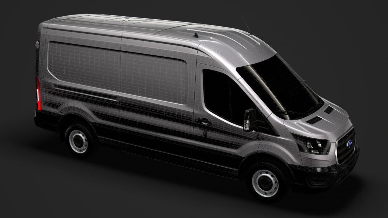 ford transit van 350 l3h2 leader 2020 3d model 3ds max fbx c4d lwo ma mb 3dm hrc xsi obj 319923