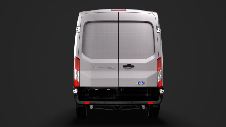 ford transit van 350 l3h2 leader 2020 3d model 3ds max fbx c4d lwo ma mb 3dm hrc xsi obj 319924