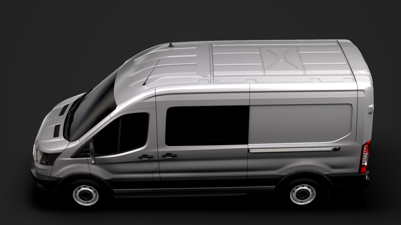 ford transit van 350 l3h2 leader dciv 2020 3d model 3ds max fbx c4d lwo ma mb 3dm hrc xsi obj 319942