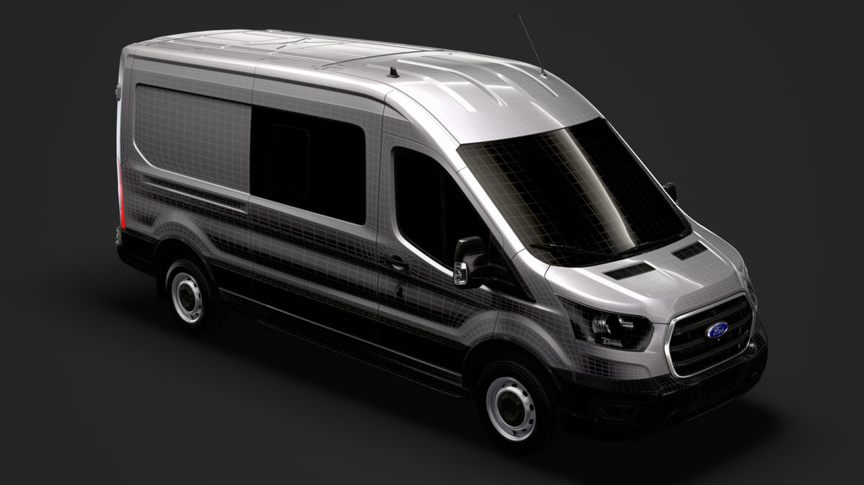 ford transit van 350 l3h2 leader dciv 2020 3d model 3ds max fbx c4d lwo ma mb 3dm hrc xsi obj 319968