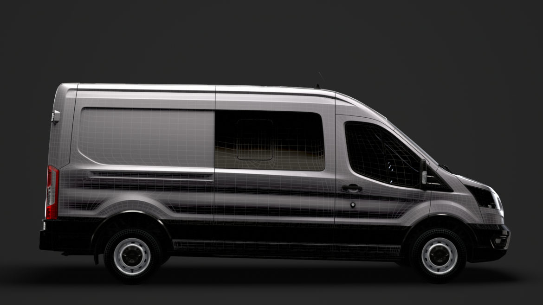 ford transit van 350 l3h2 leader dciv 2020 3d model 3ds max fbx c4d lwo ma mb 3dm hrc xsi obj 319969