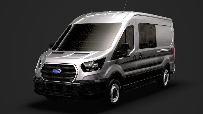 ford transit van 350 l3h2 leader dciv 2020 3d model 3ds max fbx c4d lwo ma mb 3dm hrc xsi obj 319976