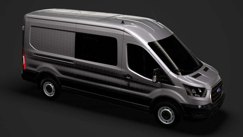 ford transit van 350 l3h2 leader dciv 2020 3d model 3ds max fbx c4d lwo ma mb 3dm hrc xsi obj 319980