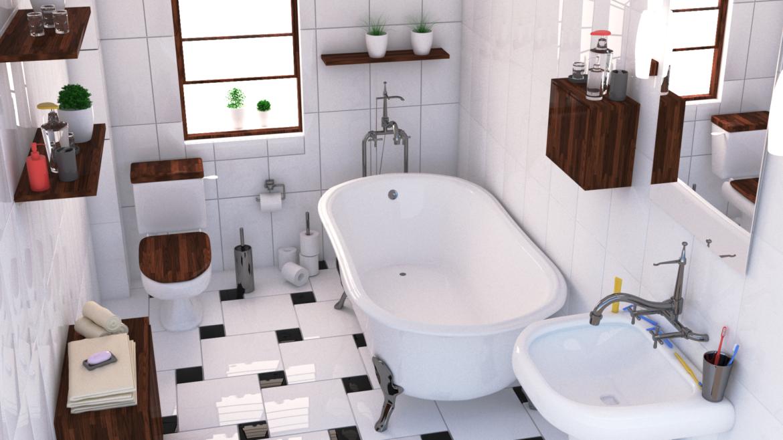 bathroom interior 1 3d model 3ds max fbx obj 320046