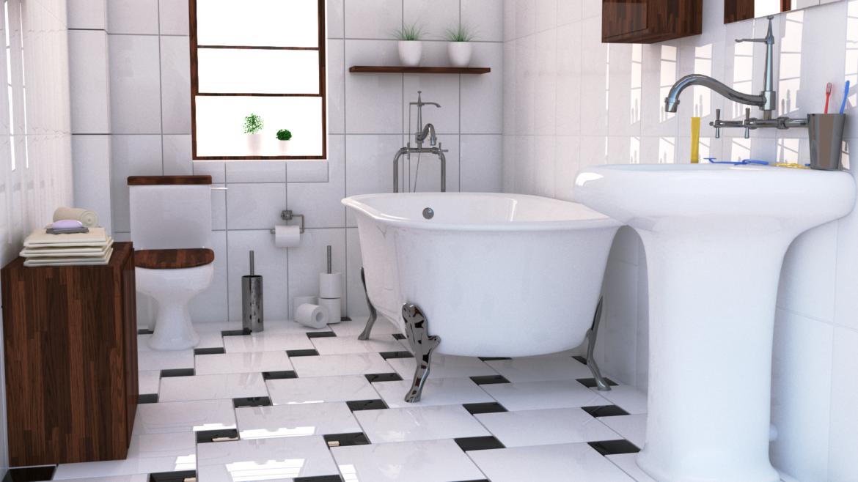 bathroom interior 1 3d model 3ds max fbx obj 320050