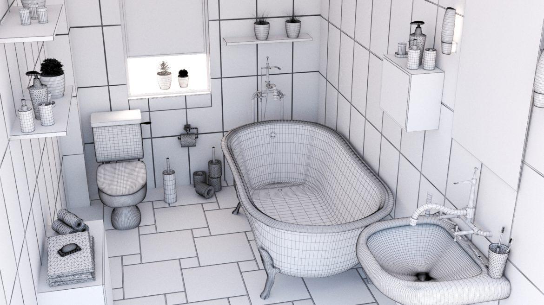 bathroom interior 1 3d model 3ds max fbx obj 320057