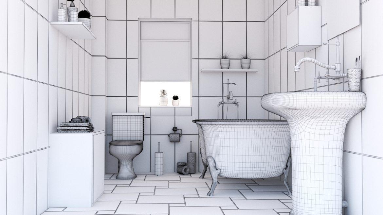 bathroom interior 1 3d model 3ds max fbx obj 320058