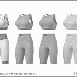 woman sportswear 01 base mesh design kit 3d model 3ds max dxf fbx blend c4d dae ma mb obj ztl 320119