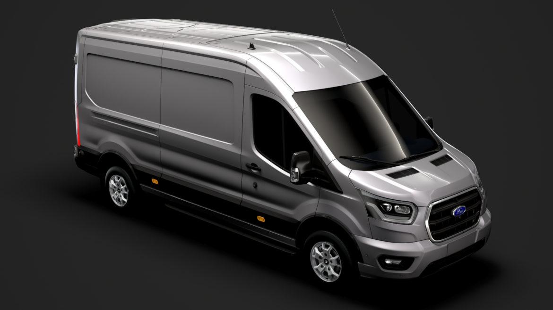 ford transit van 350 l3h2 limited 2020 3d model 3ds max fbx c4d lwo ma mb 3dm hrc xsi obj 320153