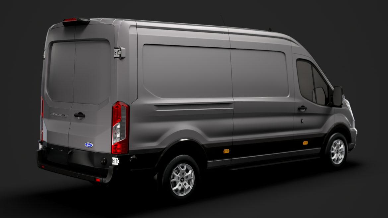 ford transit van 350 l3h2 limited 2020 3d model 3ds max fbx c4d lwo ma mb 3dm hrc xsi obj 320155