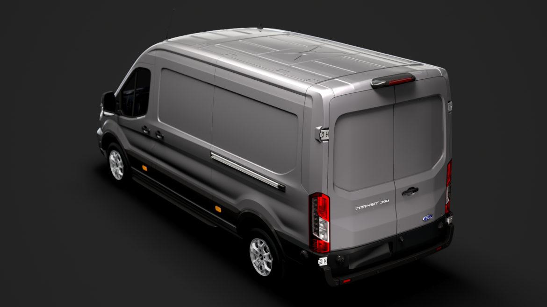 ford transit van 350 l3h2 limited 2020 3d model 3ds max fbx c4d lwo ma mb 3dm hrc xsi obj 320156