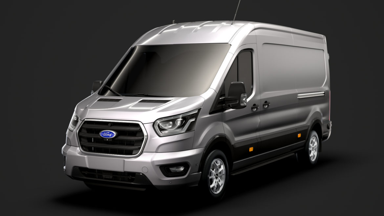 ford transit van 350 l3h2 limited 2020 3d model 3ds max fbx c4d lwo ma mb 3dm hrc xsi obj 320161