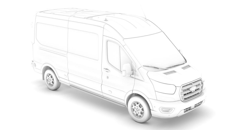 ford transit van 350 l3h2 limited 2020 3d model 3ds max fbx c4d lwo ma mb 3dm hrc xsi obj 320167
