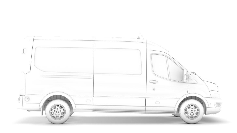 ford transit van 350 l3h2 limited 2020 3d model 3ds max fbx c4d lwo ma mb 3dm hrc xsi obj 320168