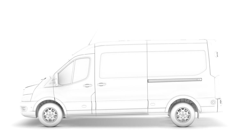 ford transit van 350 l3h2 limited 2020 3d model 3ds max fbx c4d lwo ma mb 3dm hrc xsi obj 320172