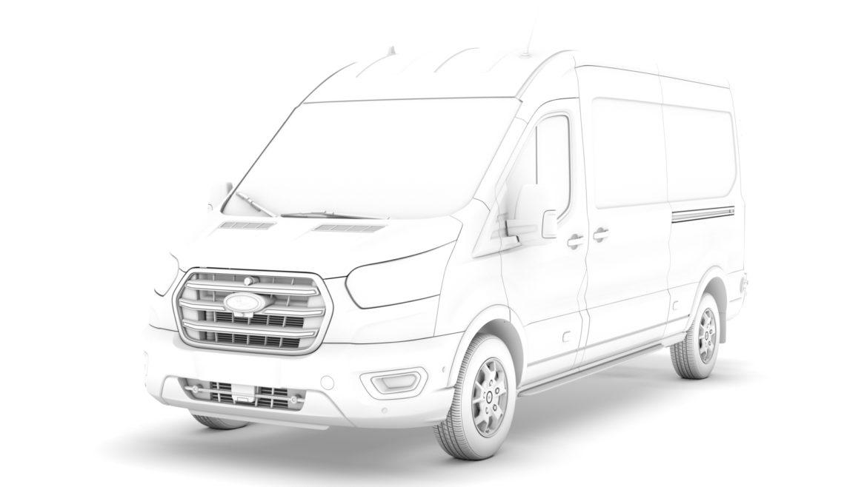 ford transit van 350 l3h2 limited 2020 3d model 3ds max fbx c4d lwo ma mb 3dm hrc xsi obj 320175