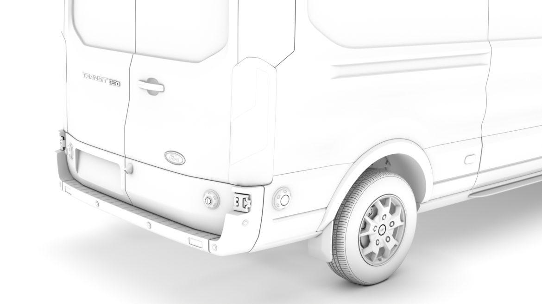 ford transit van 350 l3h2 limited 2020 3d model 3ds max fbx c4d lwo ma mb 3dm hrc xsi obj 320177