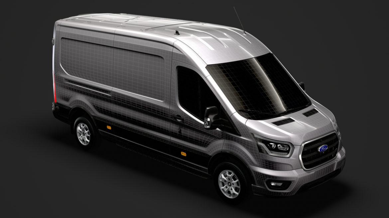 ford transit van 350 l3h2 limited 2020 3d model 3ds max fbx c4d lwo ma mb 3dm hrc xsi obj 320181