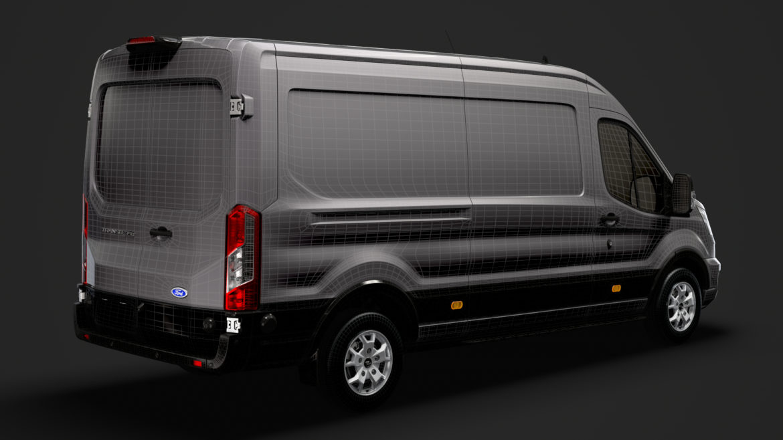 ford transit van 350 l3h2 limited 2020 3d model 3ds max fbx c4d lwo ma mb 3dm hrc xsi obj 320183