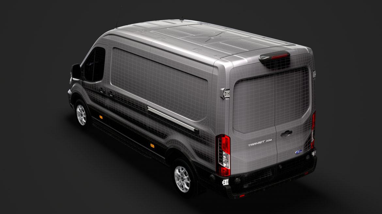 ford transit van 350 l3h2 limited 2020 3d model 3ds max fbx c4d lwo ma mb 3dm hrc xsi obj 320184
