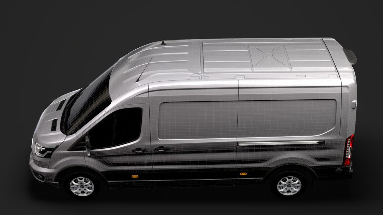 ford transit van 350 l3h2 limited 2020 3d model 3ds max fbx c4d lwo ma mb 3dm hrc xsi obj 320185