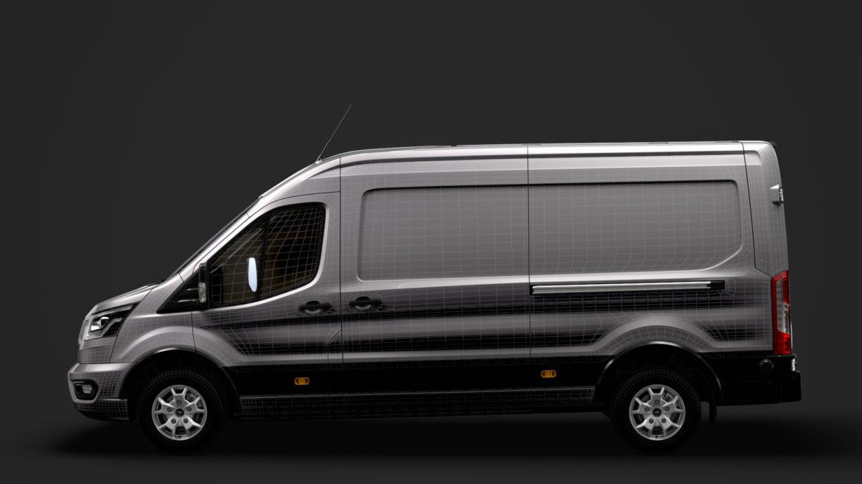 ford transit van 350 l3h2 limited 2020 3d model 3ds max fbx c4d lwo ma mb 3dm hrc xsi obj 320186