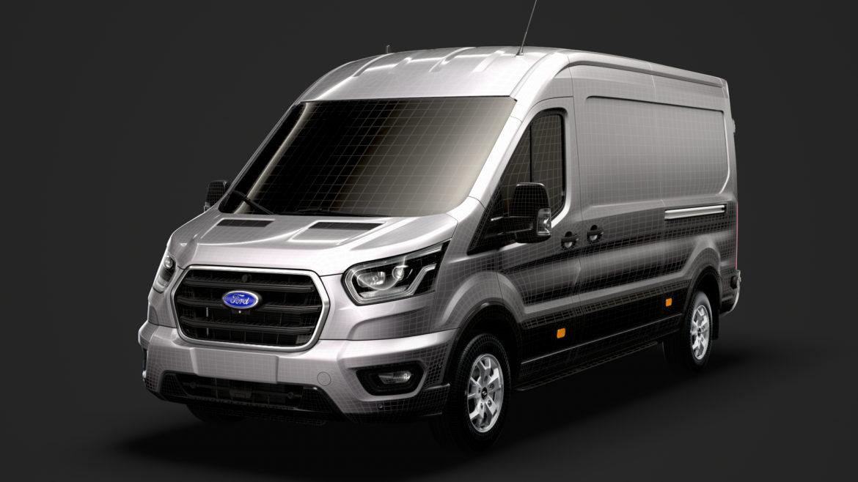 ford transit van 350 l3h2 limited 2020 3d model 3ds max fbx c4d lwo ma mb 3dm hrc xsi obj 320189