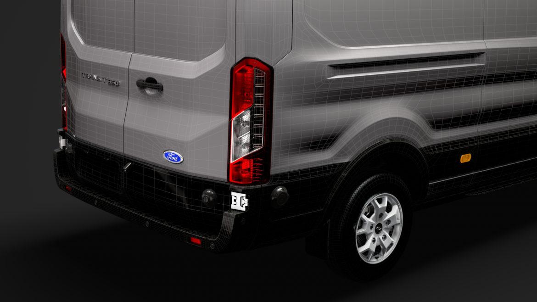 ford transit van 350 l3h2 limited 2020 3d model 3ds max fbx c4d lwo ma mb 3dm hrc xsi obj 320191