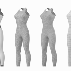 woman sportswear 02 base mesh design kit 3d model max fbx blend c4d dae ma mb  obj ztl 320314