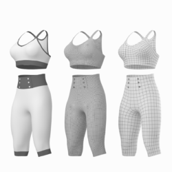 woman sportswear 04 base mesh design kit 3d model max fbx blend c4d dae ma mb  obj ztl 320360