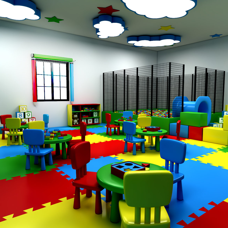 kindergarten 3d model 3ds fbx obj 320418