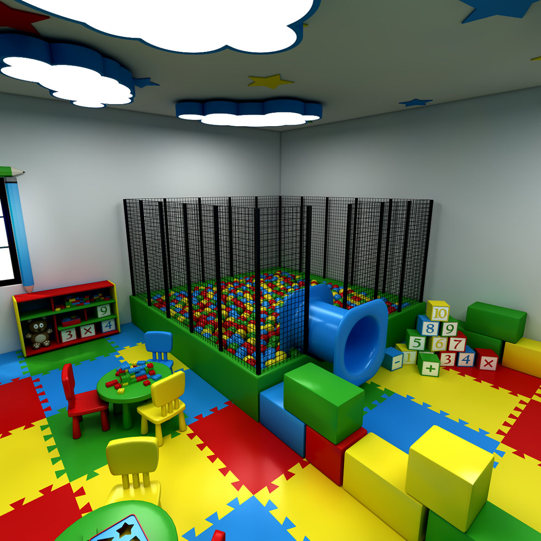 kindergarten 3d model 3ds fbx obj 320422