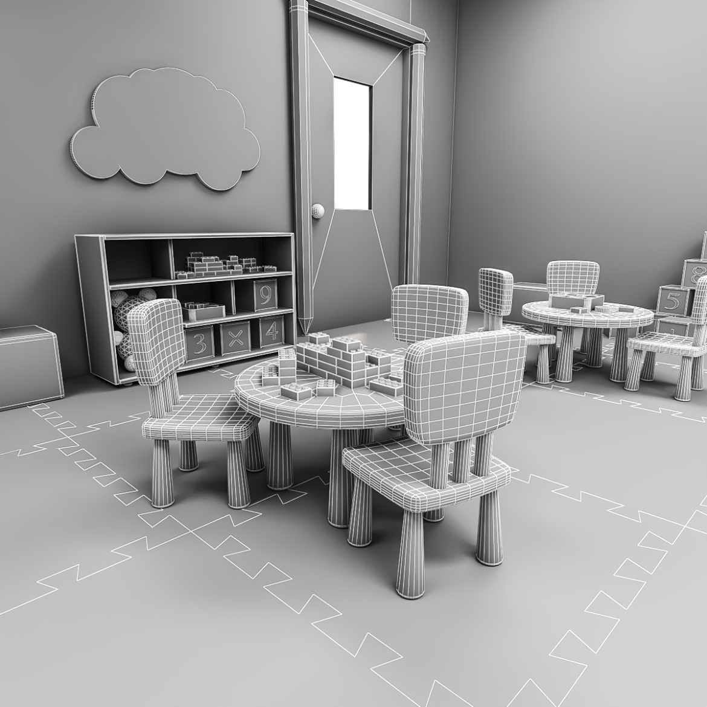 kindergarten 3d model 3ds fbx obj 320429