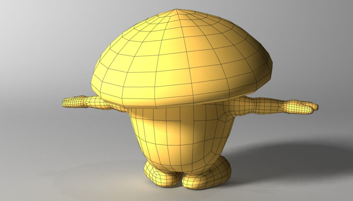 cartoon mushroom character rigged and animated 3d model 3ds max fbx  obj 320515