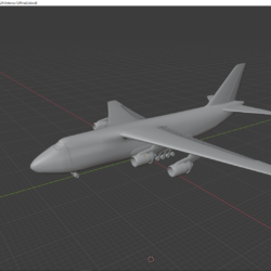 antonov 124 (mid-poly) 3d model lTF 320552