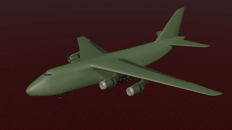 antonov 124 (mid-poly) 3d model lTF 320557