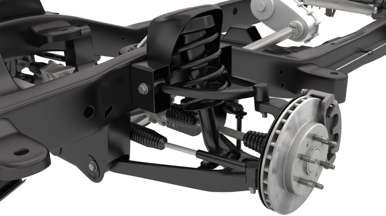 pickup truck chassis 4wd ifs 3d model 3ds max fbx blend obj 320598