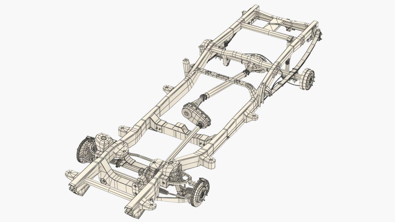 pickup truck chassis 4wd ifs 3d model 3ds max fbx blend obj 320603