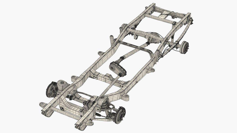 pickup truck chassis 4wd ifs 3d model 3ds max fbx blend obj 320604
