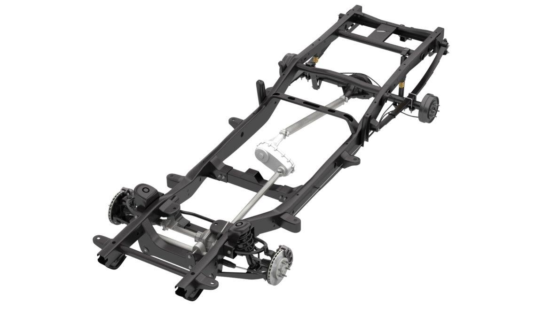 pickup truck chassis 4wd ifs 3d model 3ds max fbx blend obj 320607