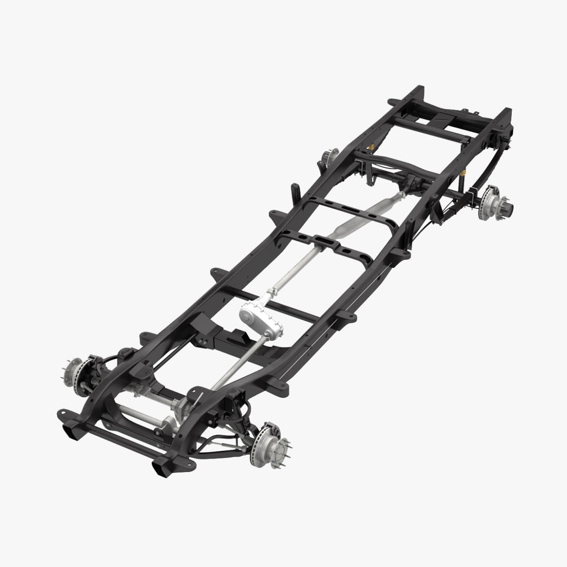 dually pickup truck chassis 4wd ifs 3d model 3ds max fbx blend obj 320639