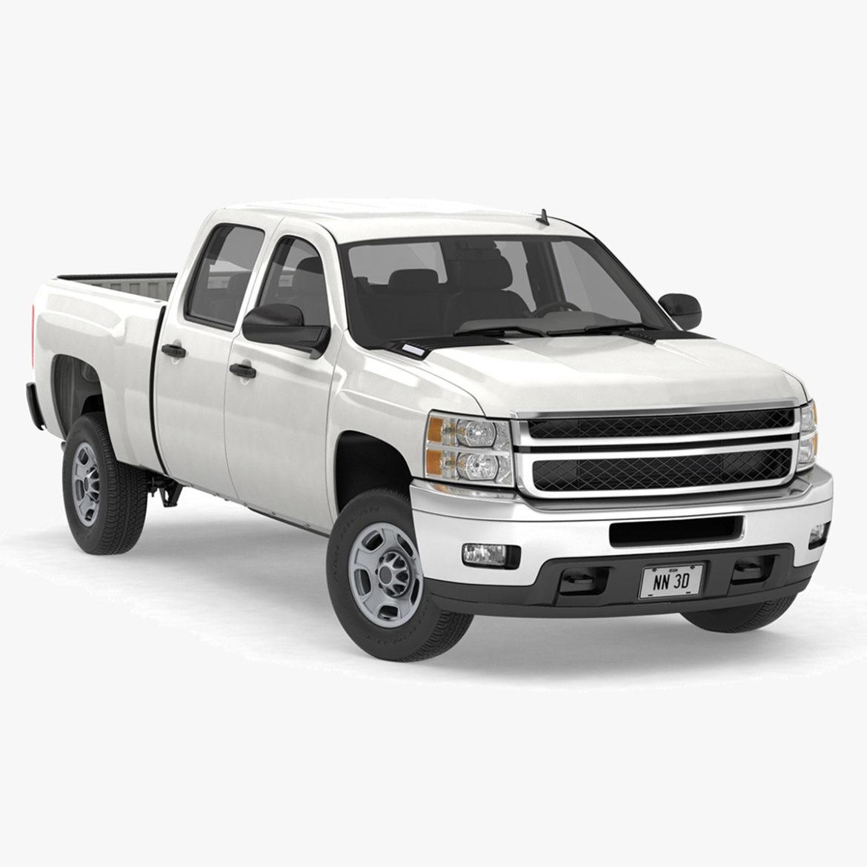 generic crew cab pickup truck 17 3d model 3ds max fbx blend obj 320717