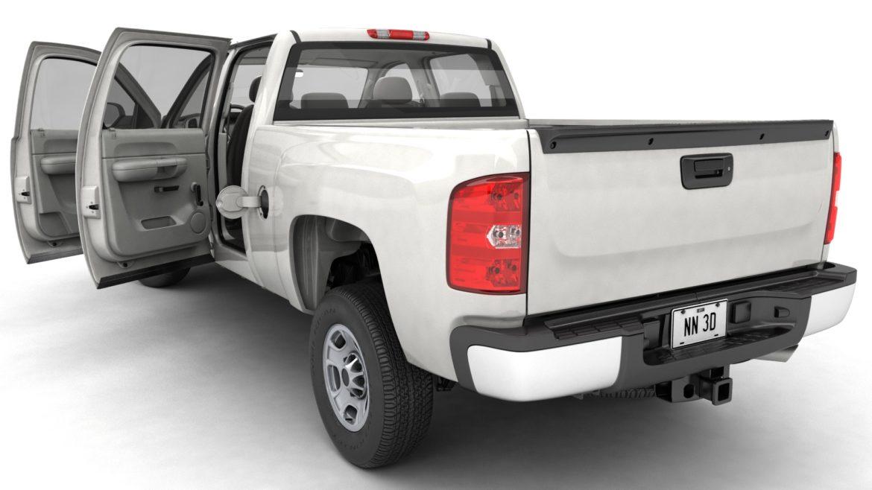 generic crew cab pickup truck 17 3d model 3ds max fbx blend obj 320725