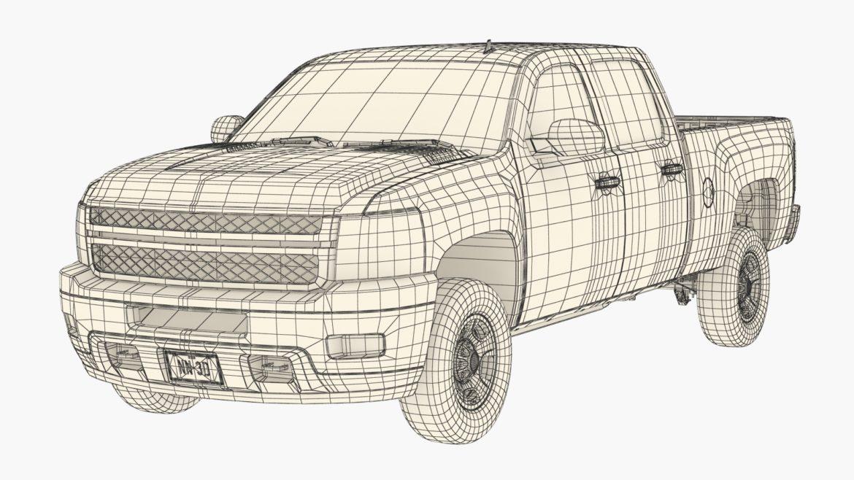 generic crew cab pickup truck 17 3d model 3ds max fbx blend obj 320739