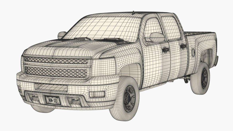 generic crew cab pickup truck 17 3d model 3ds max fbx blend obj 320740