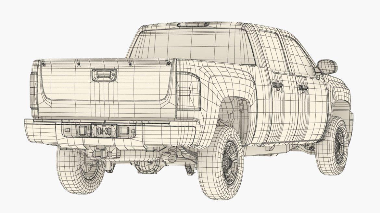 generic crew cab pickup truck 17 3d model 3ds max fbx blend obj 320741
