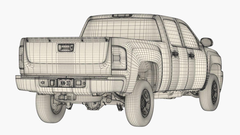 generic crew cab pickup truck 17 3d model 3ds max fbx blend obj 320742