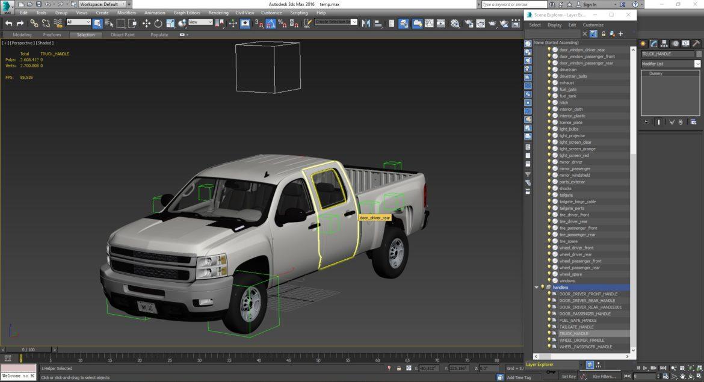 generic crew cab pickup truck 17 3d model 3ds max fbx blend obj 320743