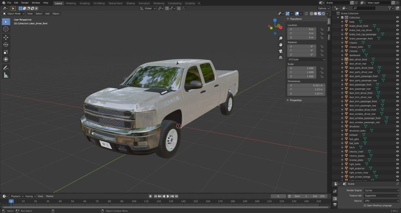 generic crew cab pickup truck 17 3d model 3ds max fbx blend obj 320744