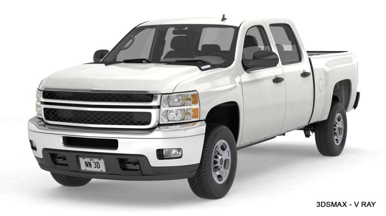 generic crew cab pickup truck 17 3d model 3ds max fbx blend obj 320745